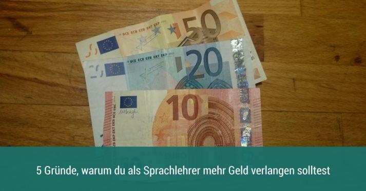 Sprachlehrer mehr Geld