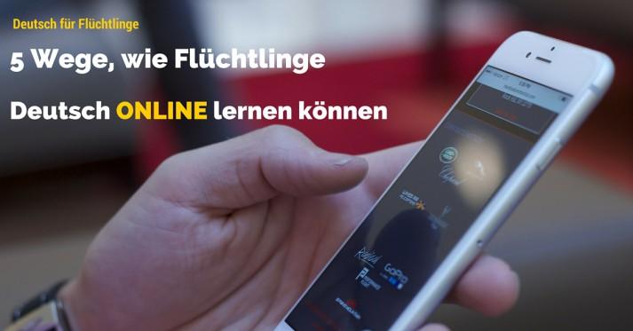 Wie Flüchtlinge Deutsch online lernen