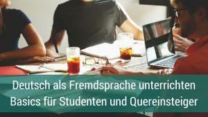 Deutsch als Fremdsprache unterrichten