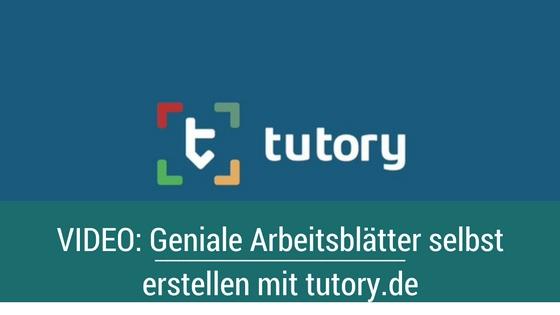 Arbeitsblätter online selbst erstellen und verkaufen mit tutory.de