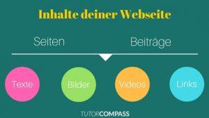 So kannst du Inhalte für deine Webseite erstellen
